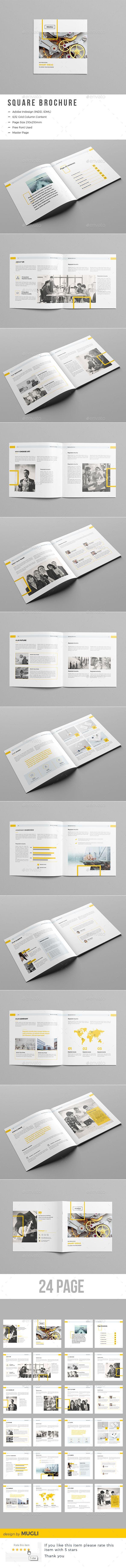 The Square Brochure | Plantillas de certificado, Editorial y Folletos