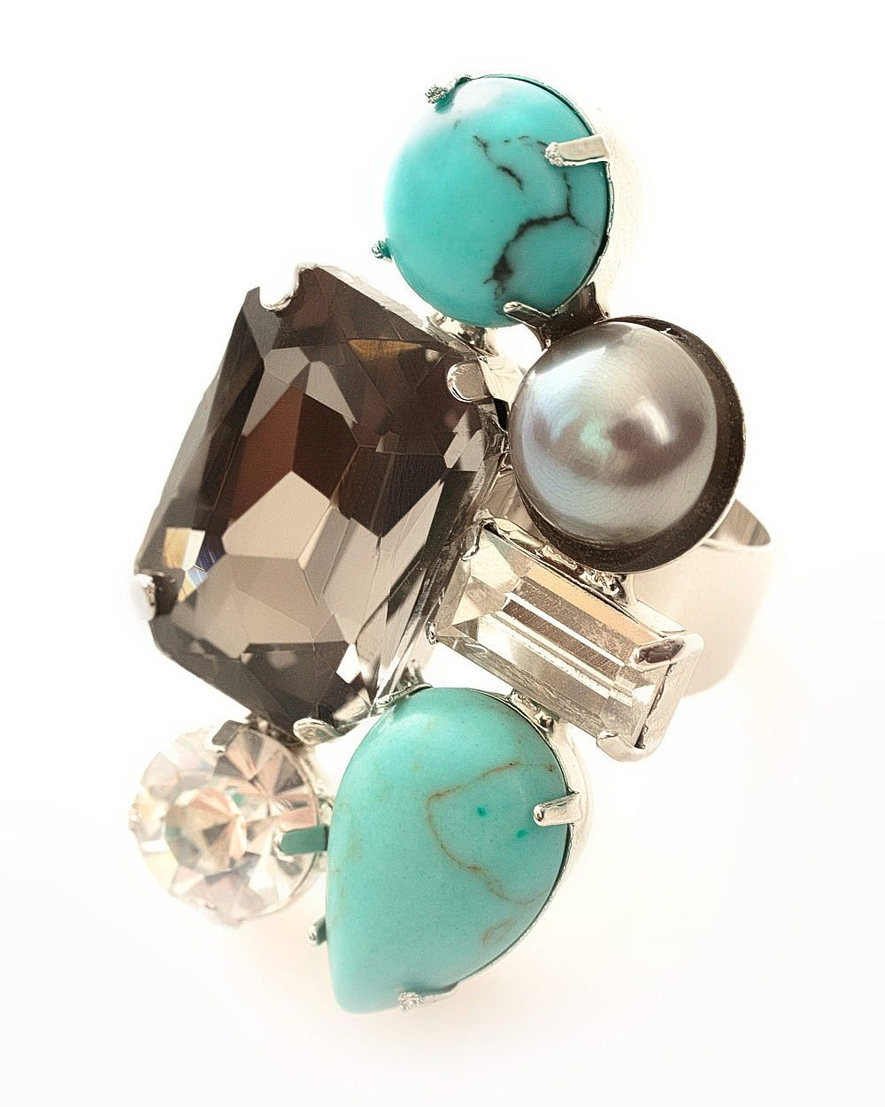 Turquoise Cluster Ring | East