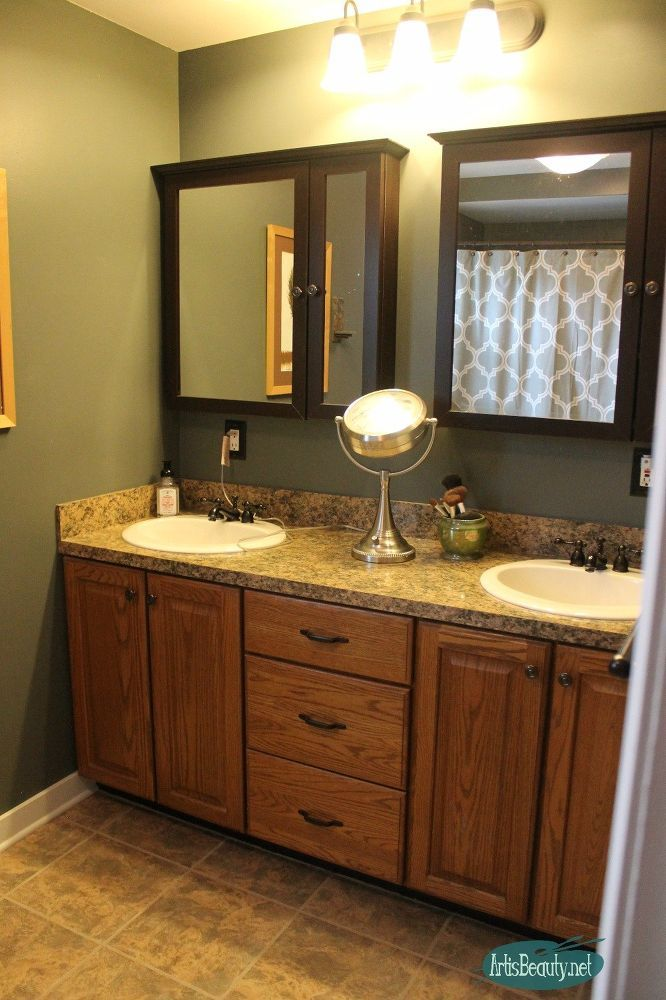 Budget Bohemian Bathroom Makeover Rustic Bathroom Shelves Oak Bathroom Vanity Oak Bathroom