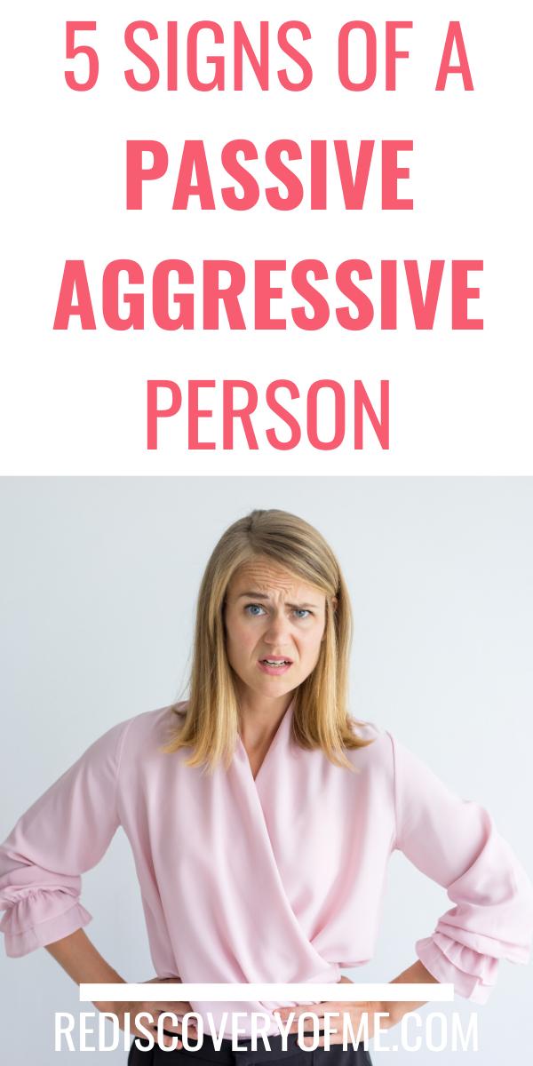 5 Signs of a Passive Aggressive Person   Passive