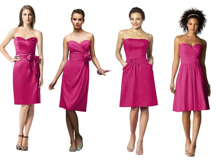 Tutti Frutti Bridesmaid Dresses Tail Length Pantone Wedding Styleboard The Dessy Group