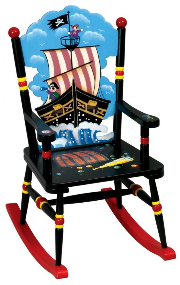 ... Nice Childrens Wooden Rocking Chairs Uk #26   Childrenu0027s Furniture    Guidecraft Pirate Themed Wooden ...