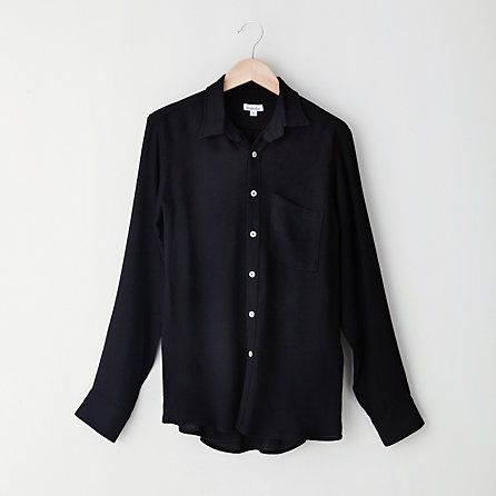 Boyfriend Shirt  Steven Alan:: there is something so beautiful about a simple black shirt.