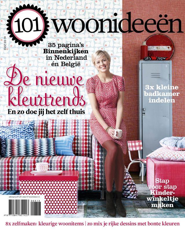 Cover Dutch creative interior magazine 101Woonideeen 03-2013