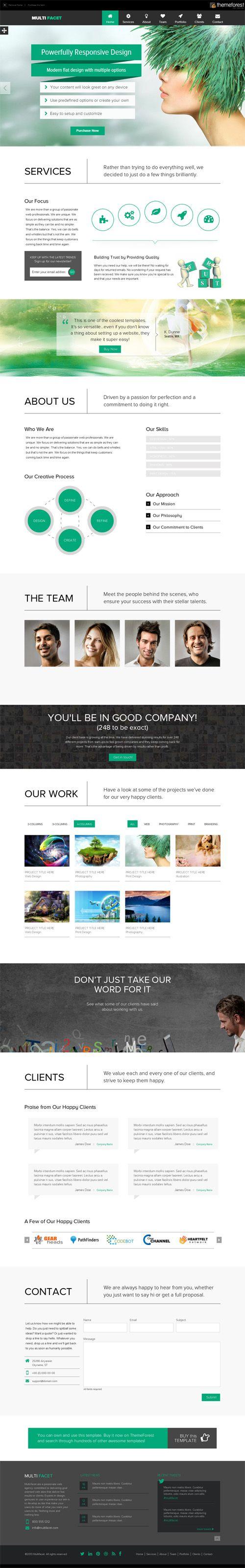 Responsive One Page Templates Permium Collection Web Design Web Graphic Design Web Layout Design
