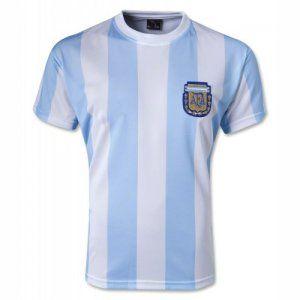 quality design 3e4a6 b0784 1986 Argentina National Team Retro Home Soccer Jersey Shirt ...