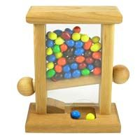 Small Wooden Candy Dispenser Ideal For Office Desk