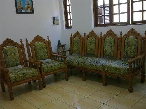 sofá colonial antigo (5 lugares) | Colonial