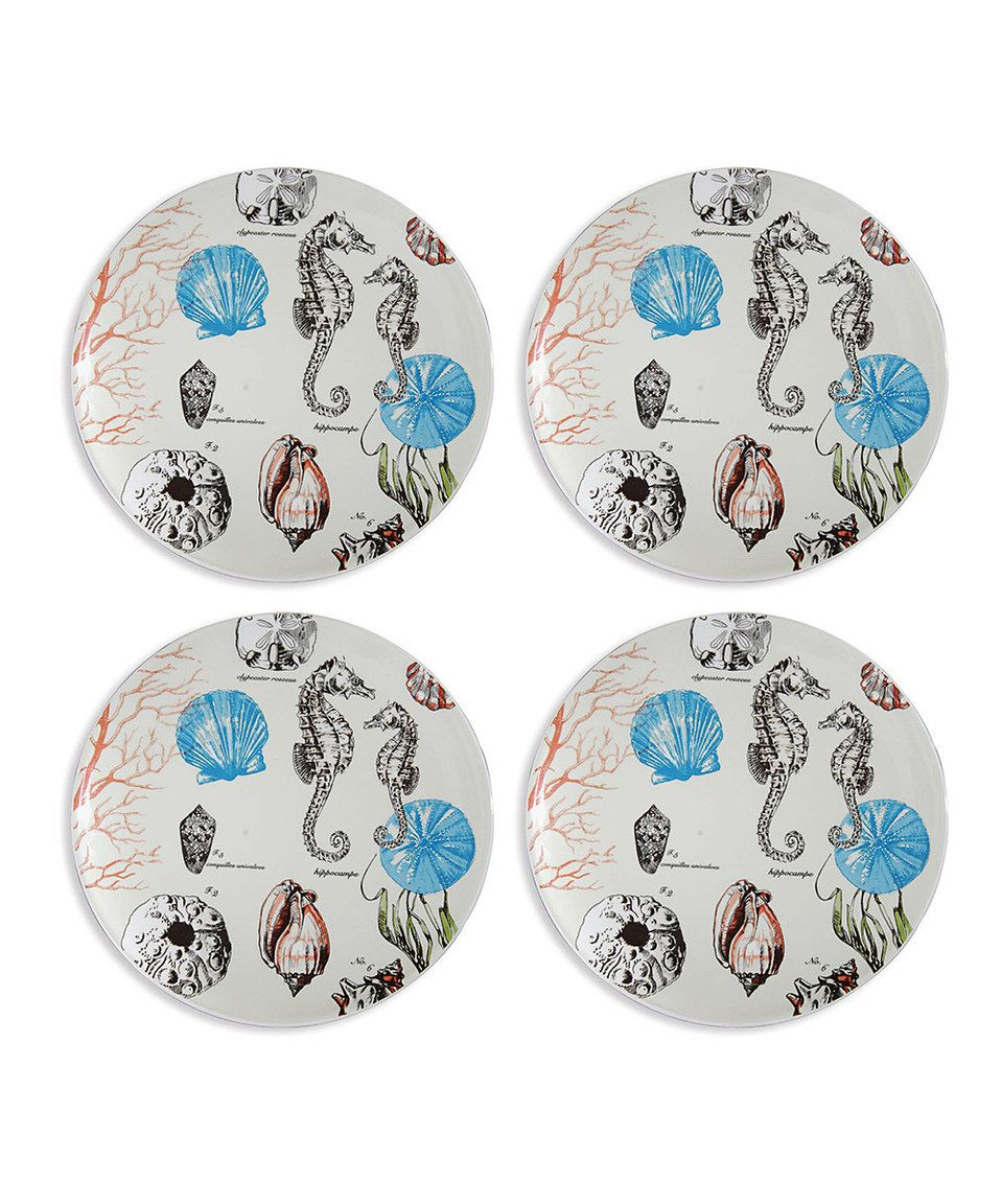 Look at this #zulilyfind! De la Mer Plate - Set of Four by C & F #zulilyfinds