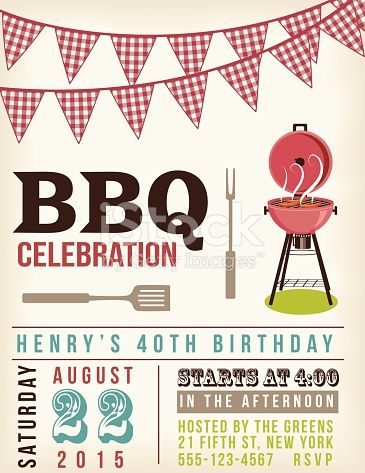 Retro BBQ Invitation Template There are two rows of checkered ref