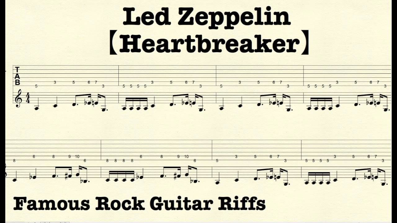 Famous Rock Guitar Riffs with TABs【Heartbreaker