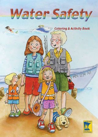 Water Safety Coloring Book And Other Kid Fishing Fun Activities