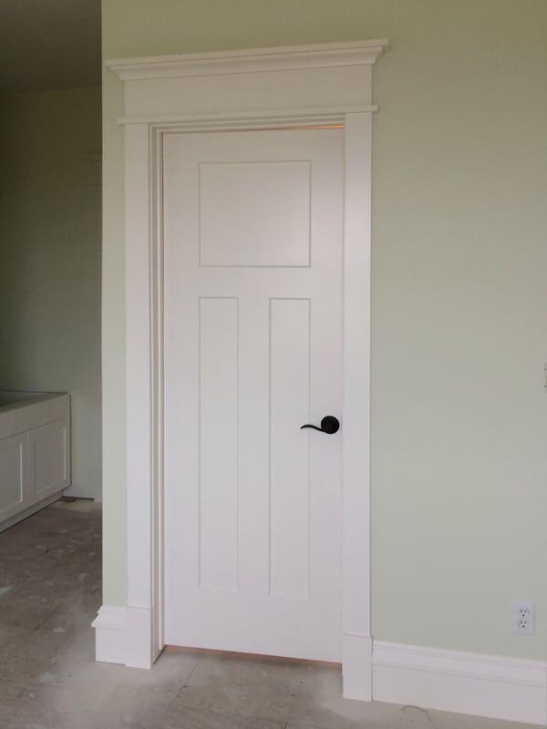 Craftsman Style Door Casing Windsorone Craftsman Style Doors Craftsman Door Moldings And Trim