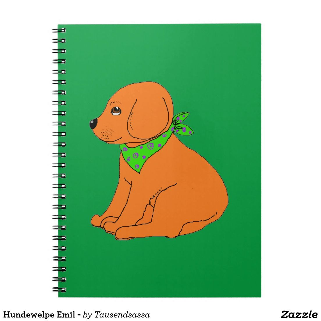 Hundewelpe Emil - Spiral Notizbuch | Products with dog - Produkte ...