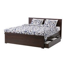 Brusali Queen Bed Frame With Storage From Ikea 254 00 15 Off Bed Frame With Storage Ikea Bed Bed With Drawers