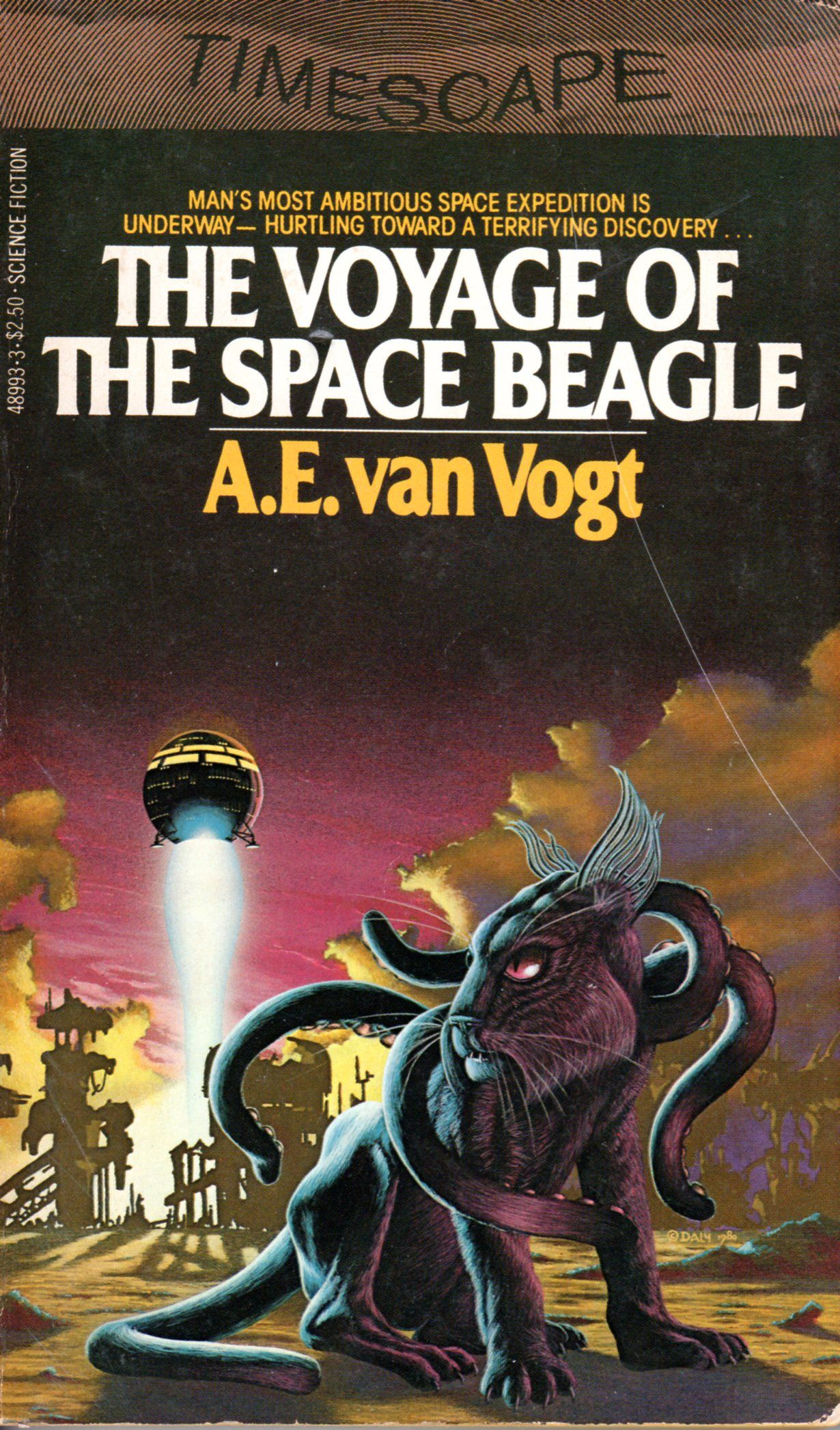 The Voyage Of The Space Beagle A E Van Vogt Cover By Gerry