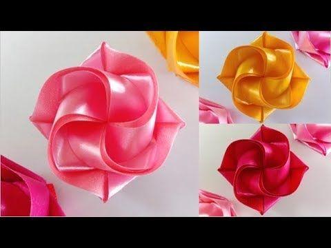 สอนพับเหรียญโปรยทานอย่างง่าย ลายน่ารัก สำหรับมือใหม่ ดอกพลับพลึง .. Ribbon Art