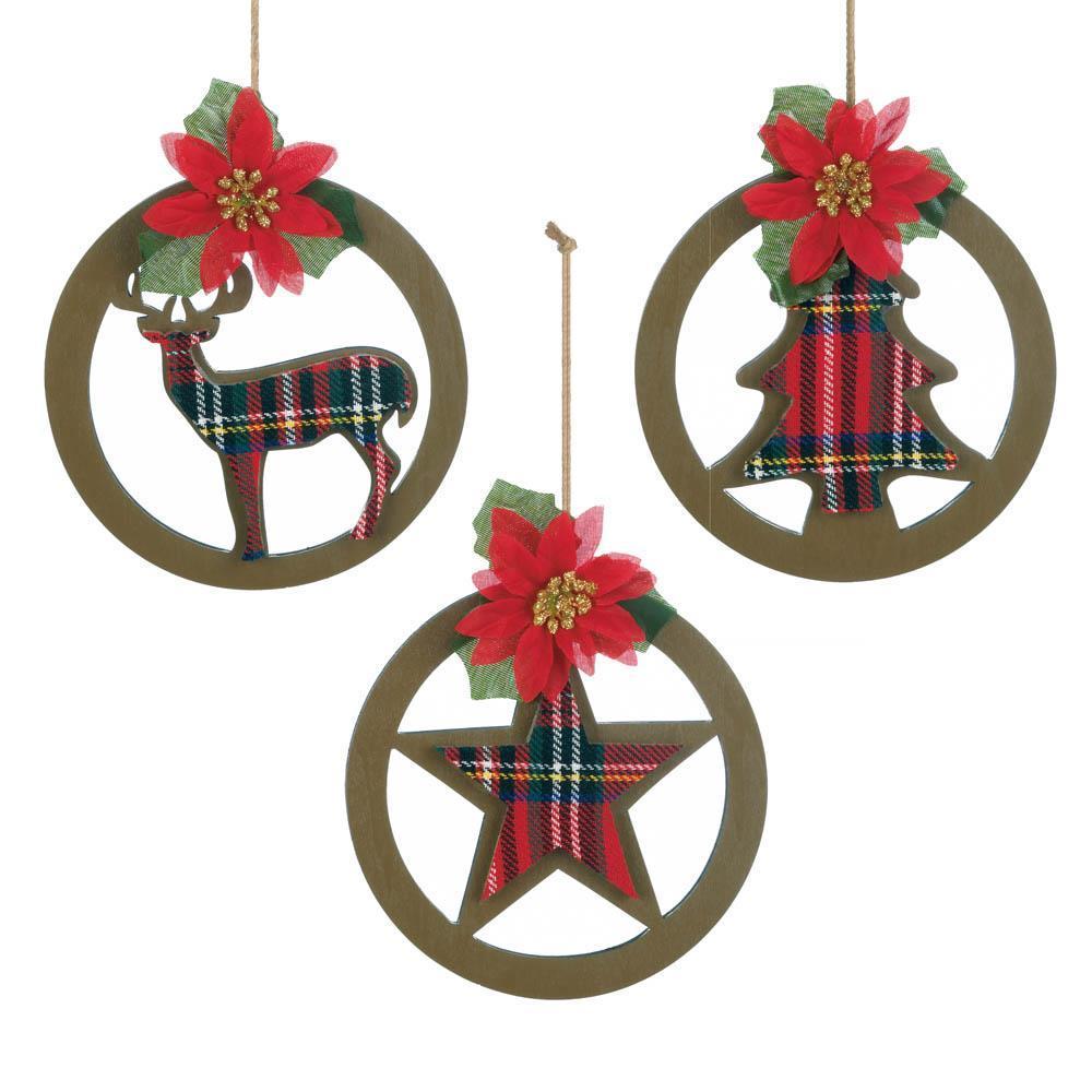 Hanging Christmas Ornaments Silhouette.Plaid Silhouette Christmas Ornament Products In 2019