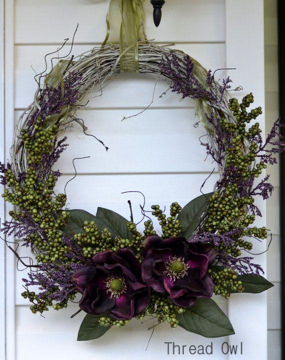 Plum Wreath by threadowl on Etsy, $59.99