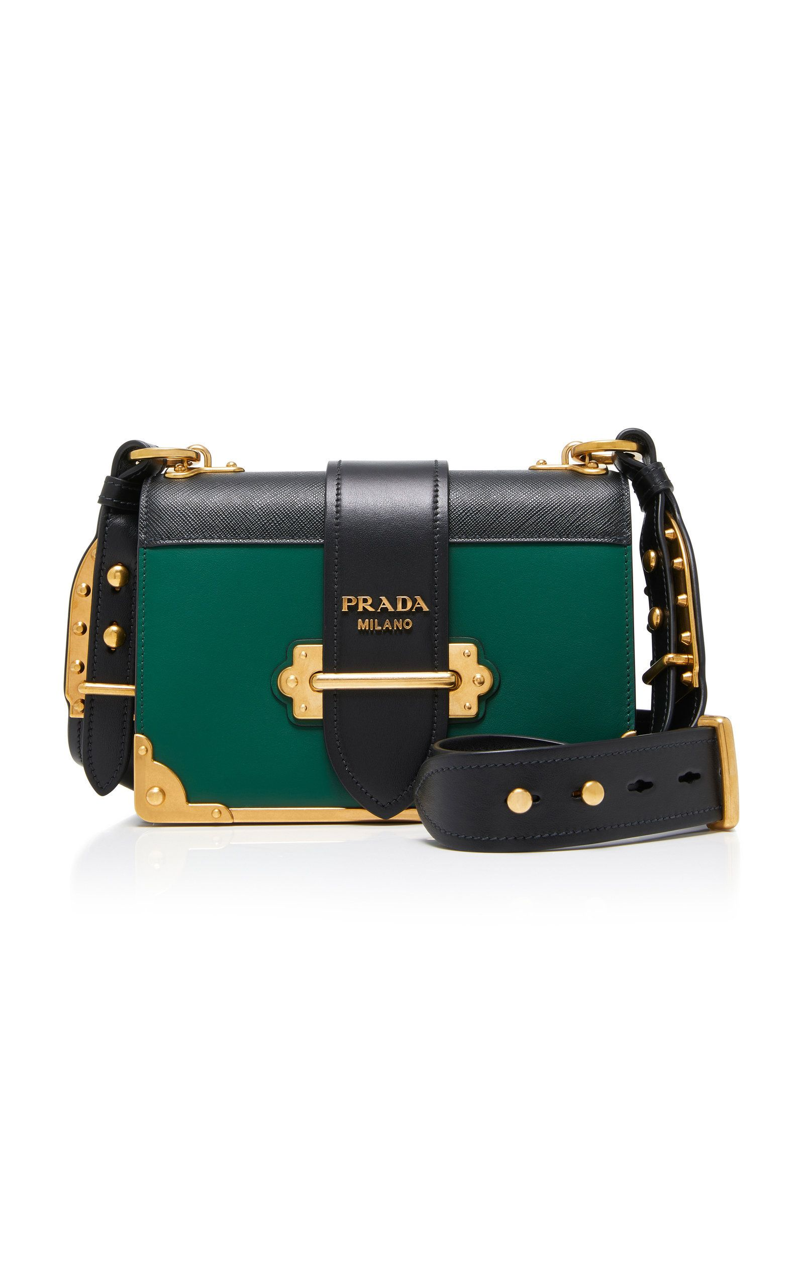 759ff5814908 Cahier Two-Tone Leather Shoulder Bag by PRADA Now Available on Moda Operandi