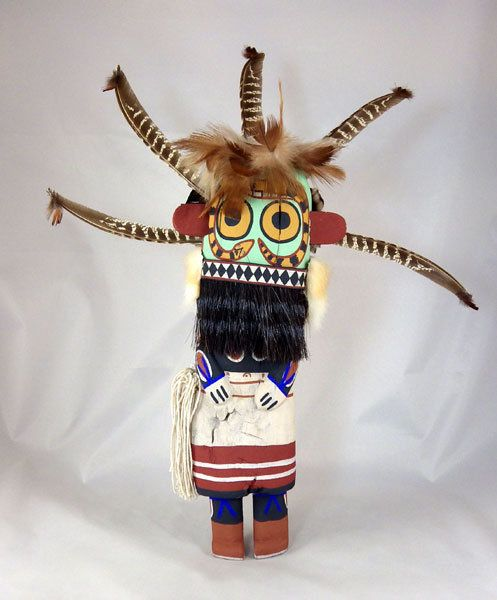 Territorial Indian Arts  New traditional style Kachina is the Sand Snake carved by Hopi Indian artist Kevin Chavarria of First Mesa.