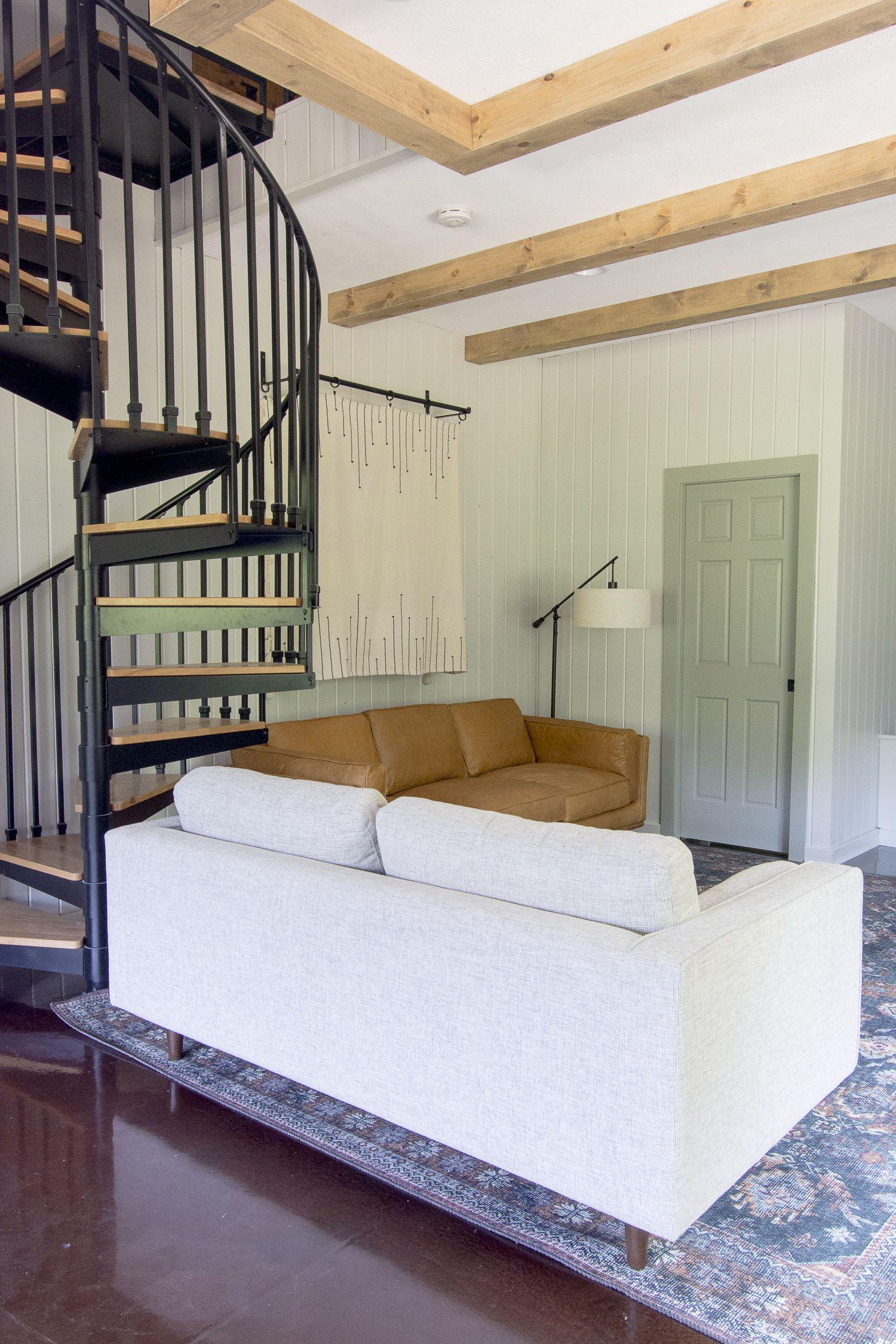 Diy wood beams tutorial guest house ceiling faux
