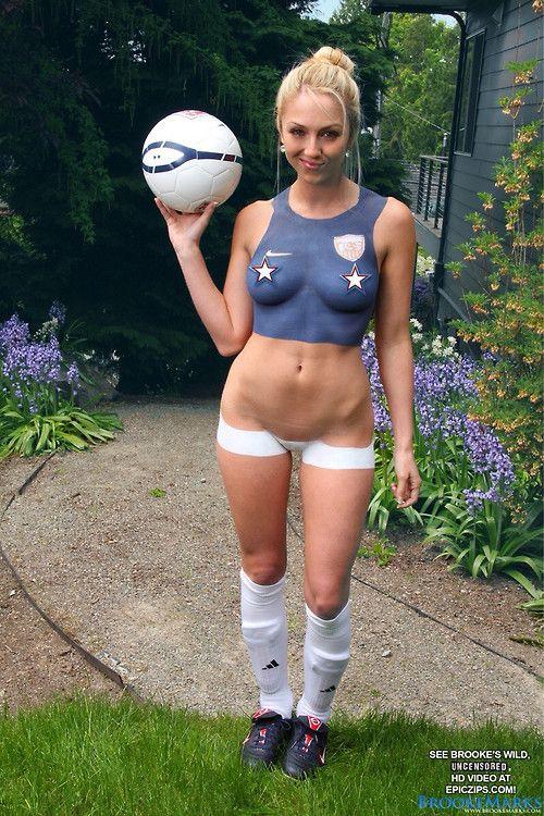 fan Hot paint soccer body