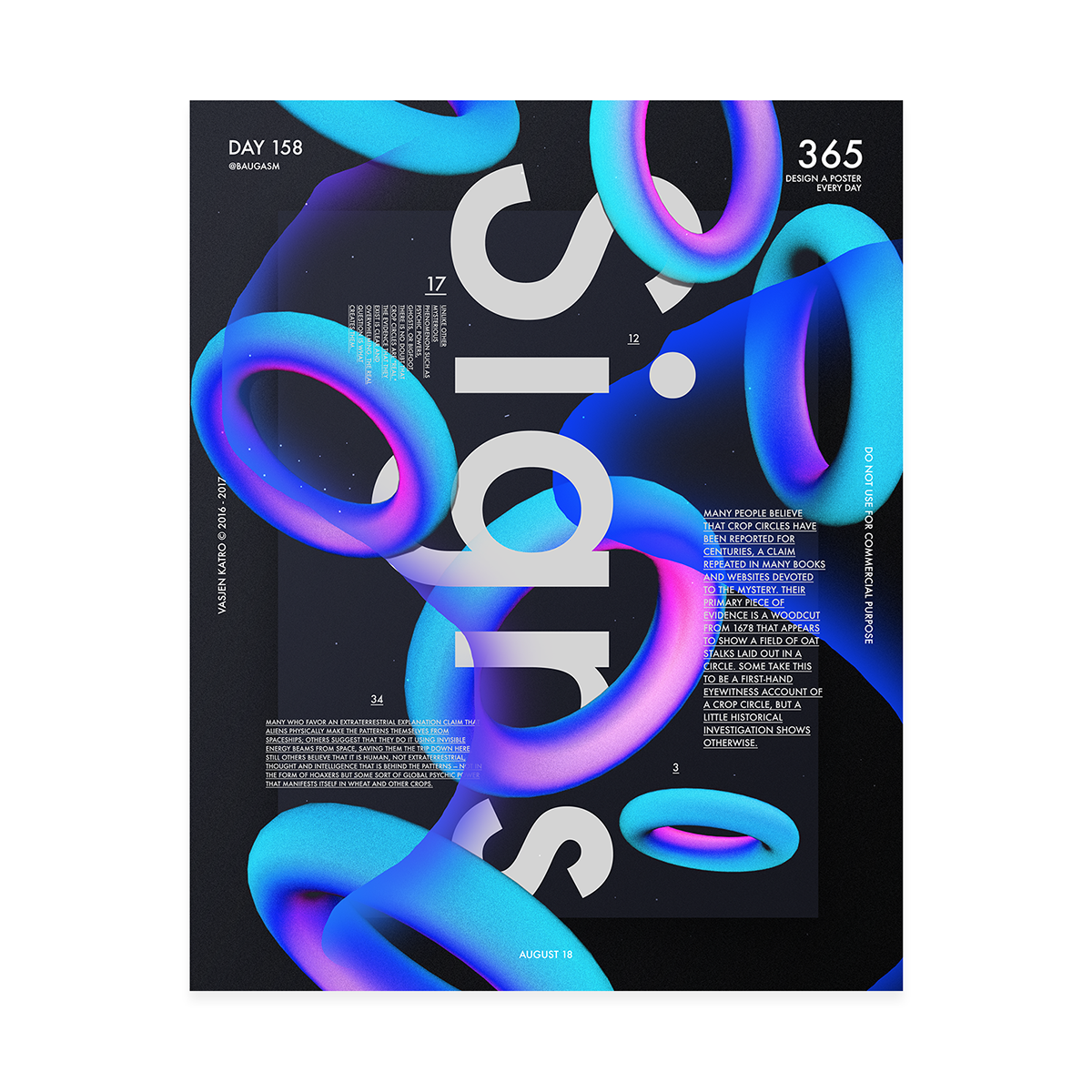 Make a poster design - Baugasm Poster Series