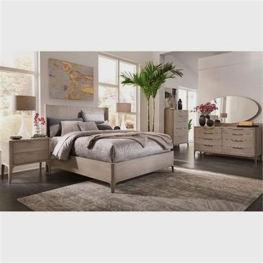 Modern Bedroom Furniture Stores: Clearance Modern Frosted Ash 4 Piece Queen Bedroom Set