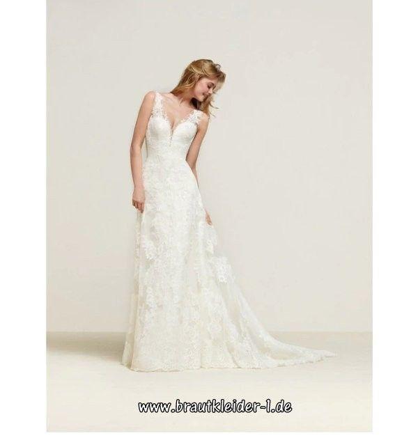 Elegantes A Linie Boho Standesamt Kleid Brautkleid ...