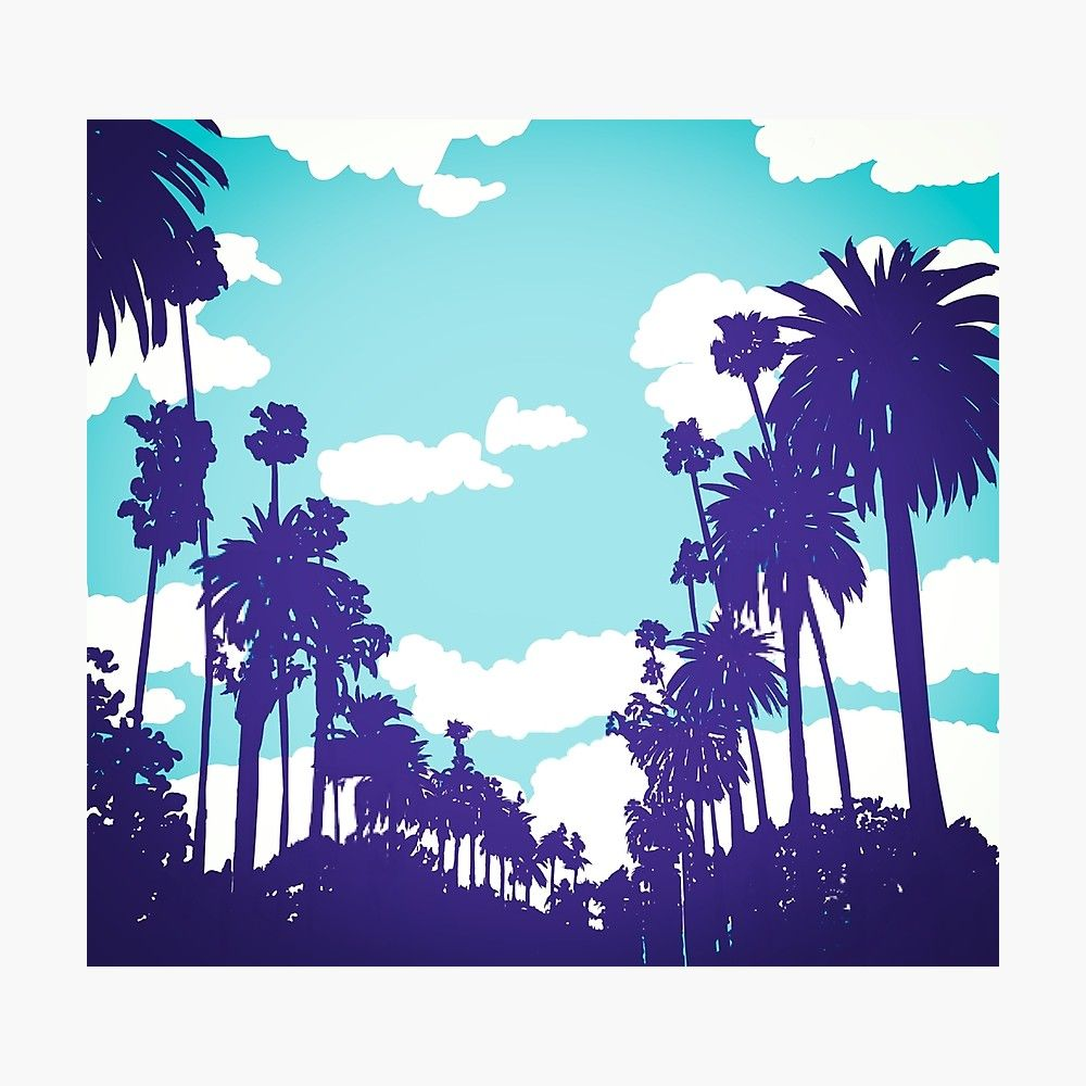 Aesthetic Palm Trees Drawing