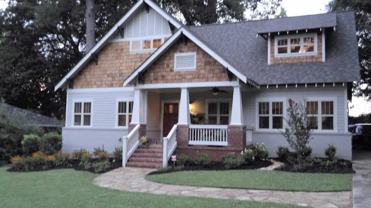 ranch style homes craftsman decatur ranch converted to craftsman bungalow youtube - Craftsman Ranch Home Exterior