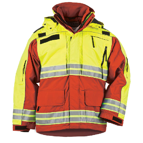 Cover 5 11 Tactical Responder High Visibility Parka Range Red With The Utility Of Our Traditional Responder Pa With Images Parka Parka Jacket Men S Coats And Jackets