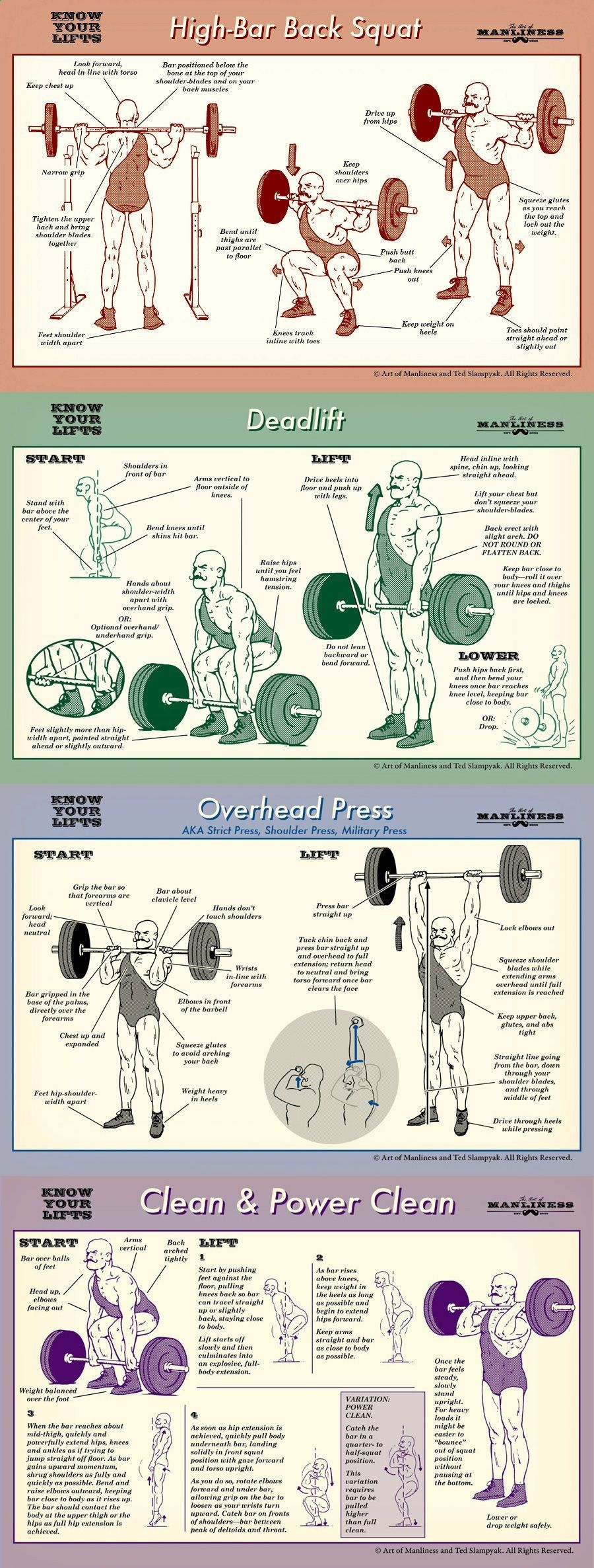 Know your lifts! Proper form for barbell squat, deadlift