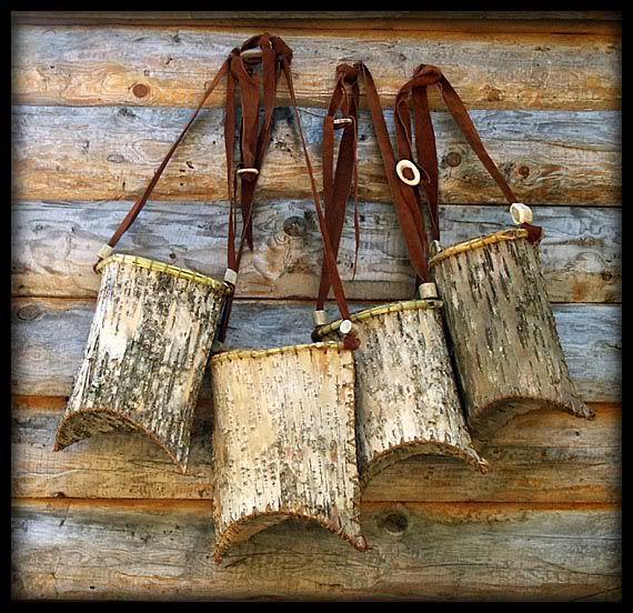 Basketbirchbirch Barkbirch Bark Basketantler Basketcaribou - Beautiful diy birch bark lamp