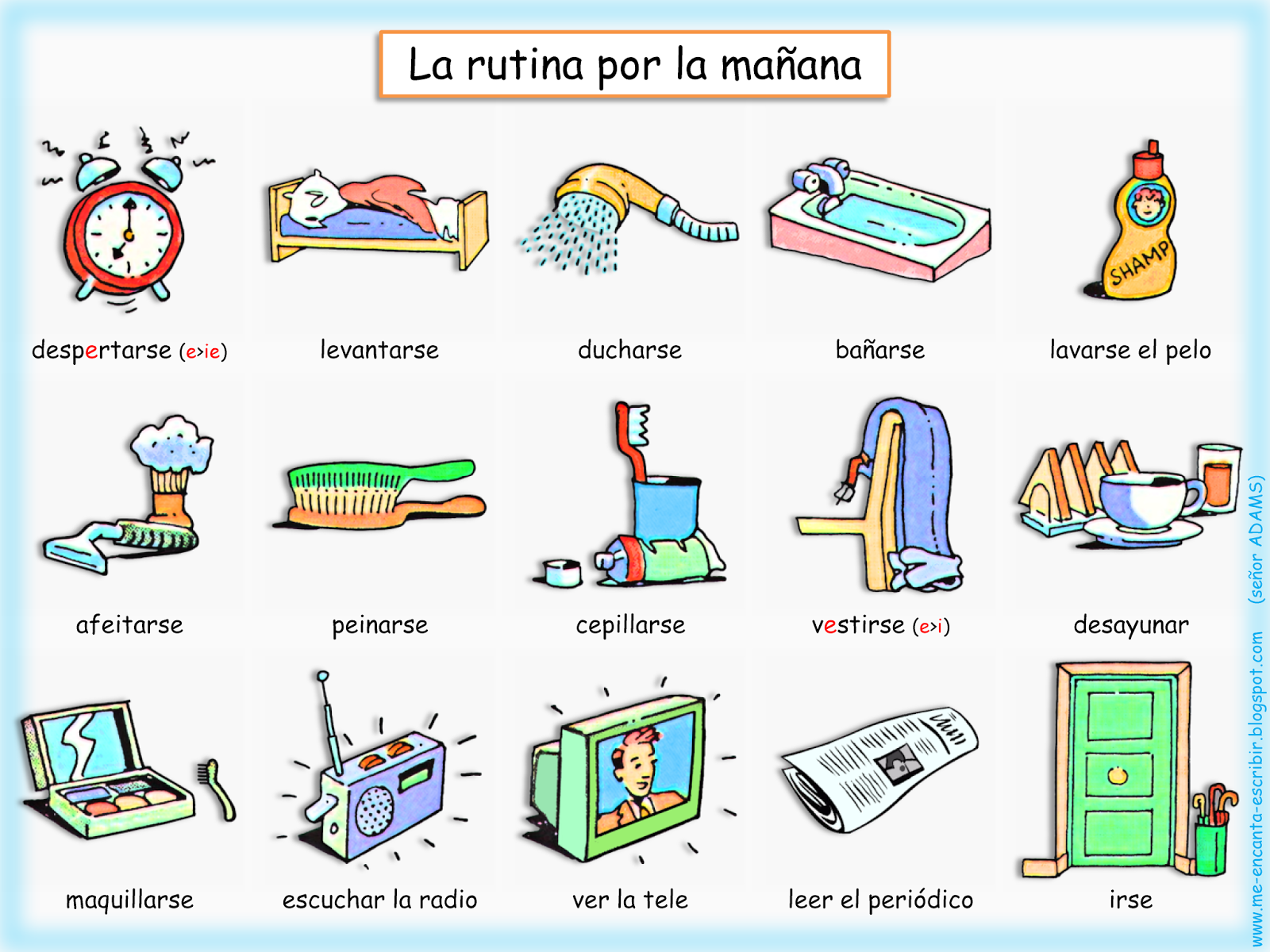 Verbos Reflexivos Verbos Para Ninos Vocabulario Espanol [ 1200 x 1600 Pixel ]