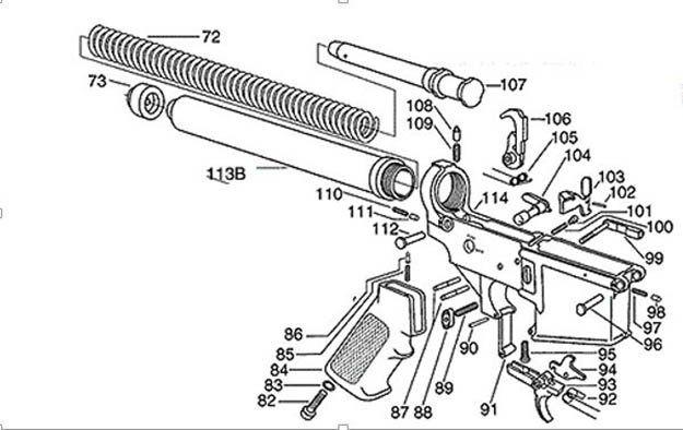 m4 schematic ar-15 basics part 2: lower receiver and ammunition ... #15