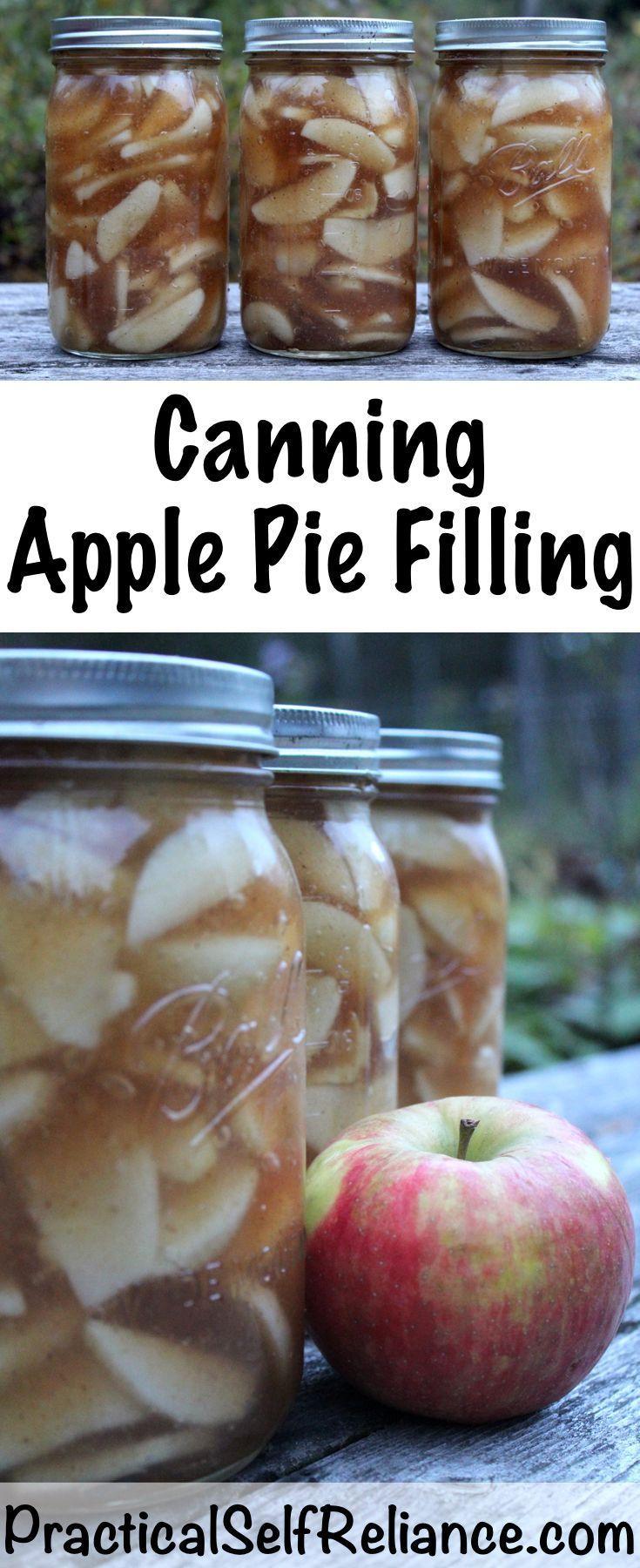 Canning Apple Pie Filling #applepie