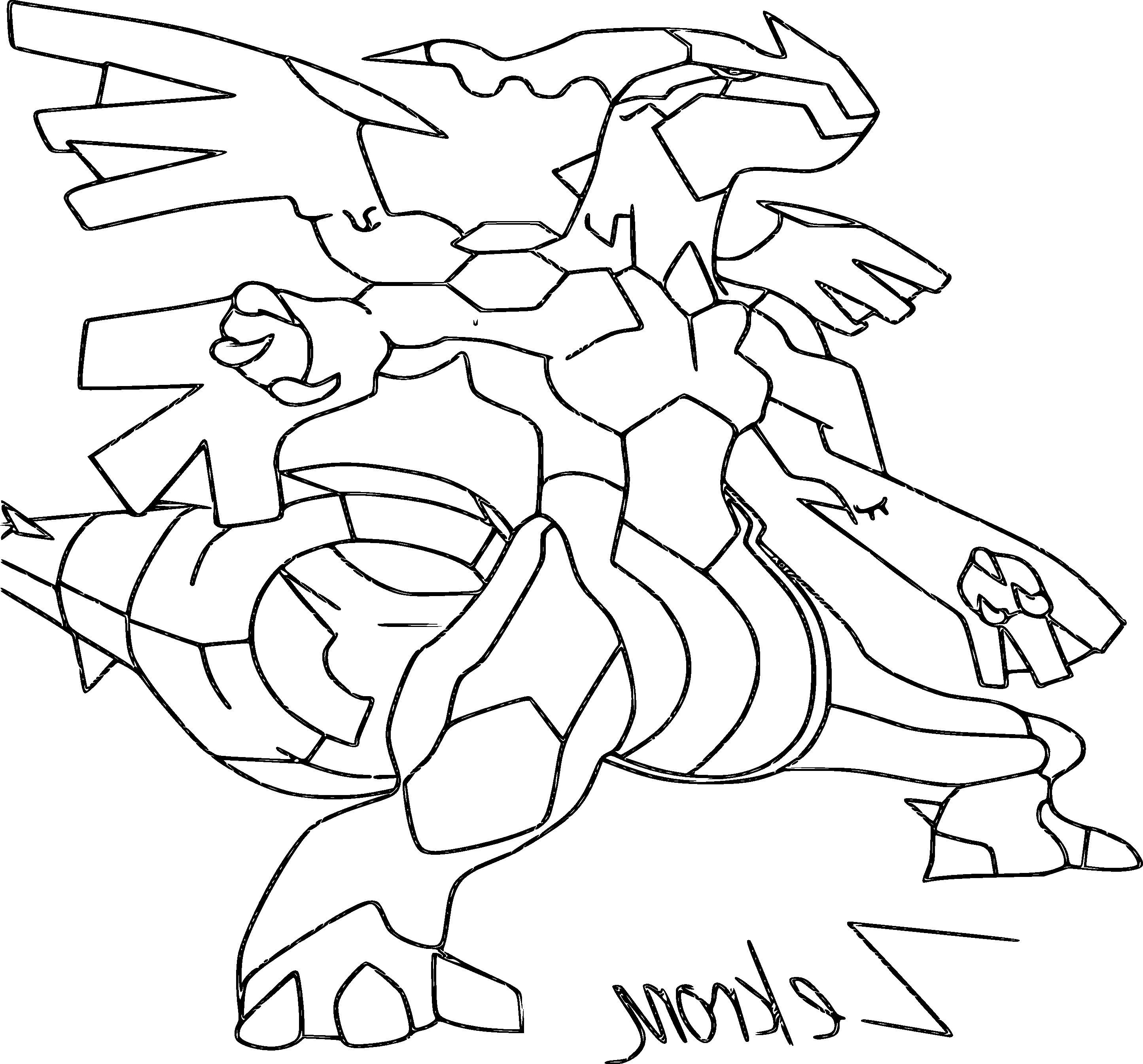 Coloriage Pokemon Zekrom Coloriagepokemon Coloring Pages