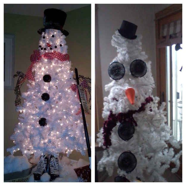 When this snowman just couldn't survive indoors.