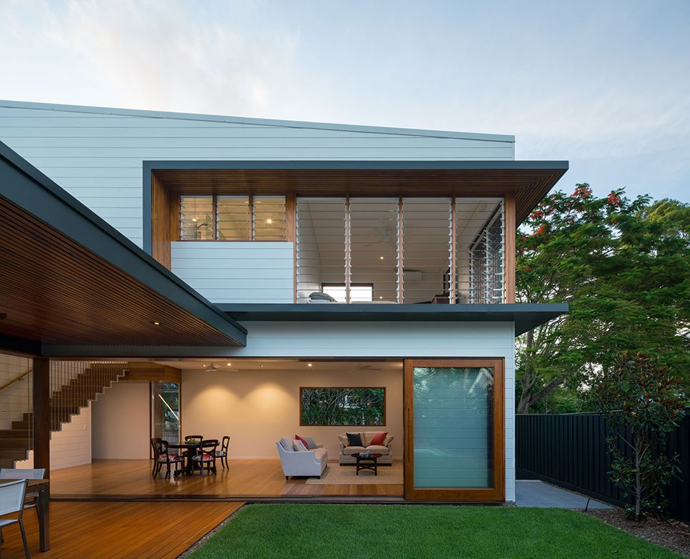 Brookes residence victoria avenue chelmer arkhefield - Modern queenslander home designs ...