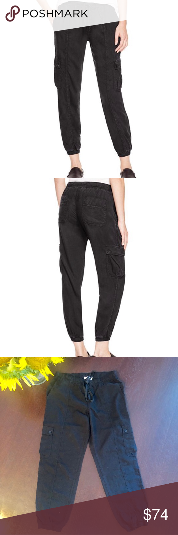 Bella Dahl Cropped Cargo Track Pants | Pants for women
