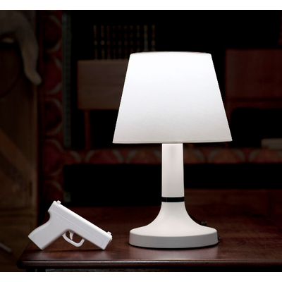 The BANG! Lamp, turn it on and off with the gun, very cool