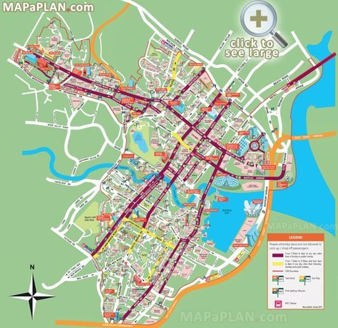 City centre mustsee places to visit detailed street travel plan
