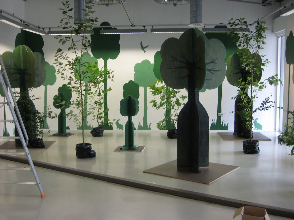 Exhibition Stand Tree : Forest installation exhibitions display and exhibit design