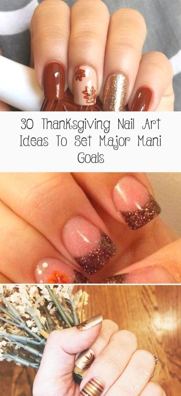 30 Thanksgiving Nail Art Ideas To Set Major Mani Goals  30 Thanksgiving Nail Ar  My Boar