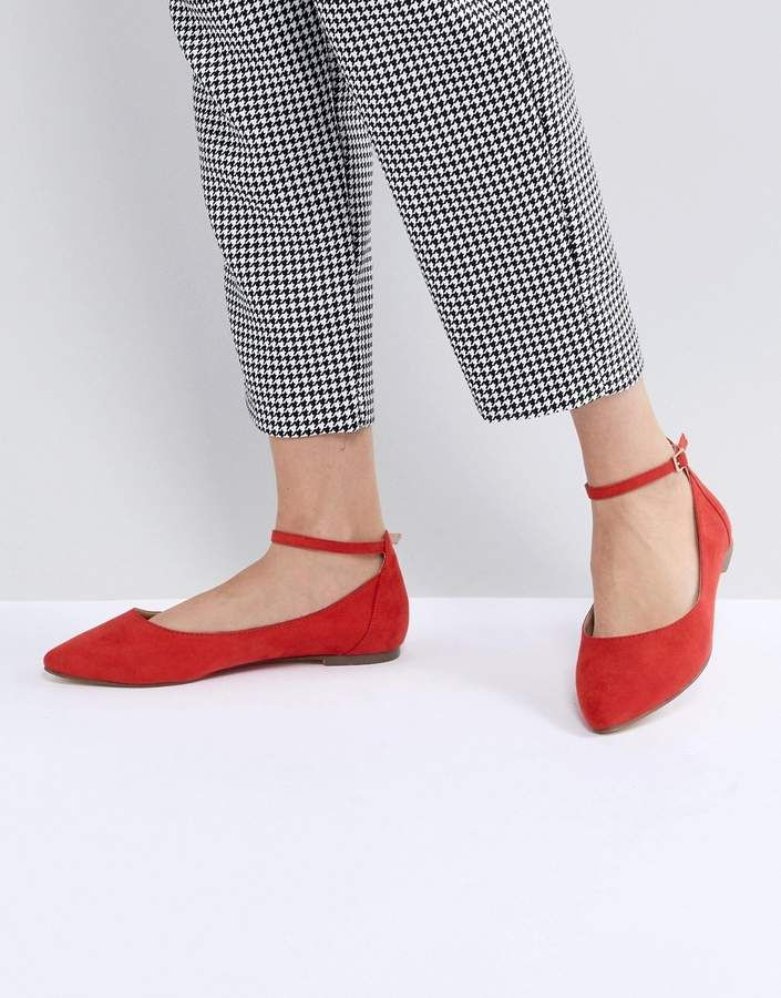 Asos Chaussures Plates - Maxime Rouge Nsh1ZB