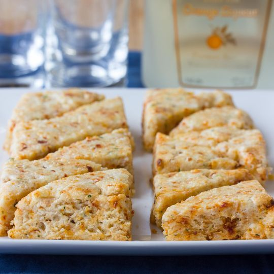Savory Party Bread Recipe: Savory Scones With Goat Cheese And Sun-Dried Tomatoes