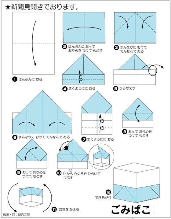 新聞紙でごみ箱をどうぞ | Origami box, Diy paper, Origami    新聞紙でごみ箱をどうぞ | Origami box, Diy paper, Origami おりがみの折り方, 折り紙の折り方, 子供の折り紙, 小箱, 折り紙, クールなアイデア
