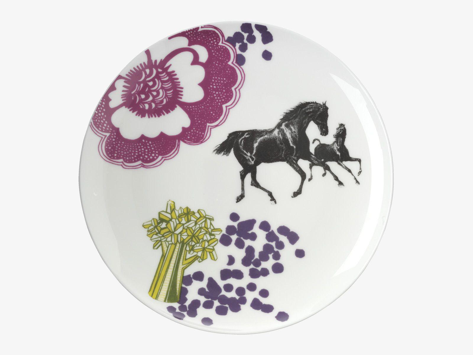 CONCETTA MULTICOLOURED Bone china Side plate Horse